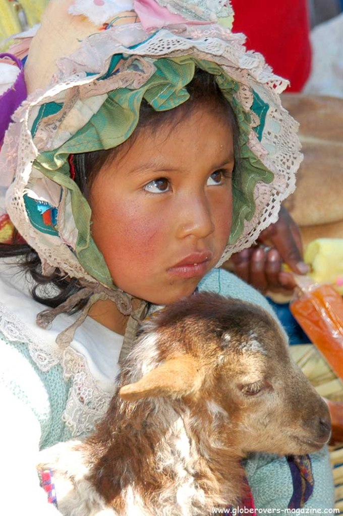 Portraits - Peruvian Girl, Village market in Sacred Valley some distance from Cusco, Peru