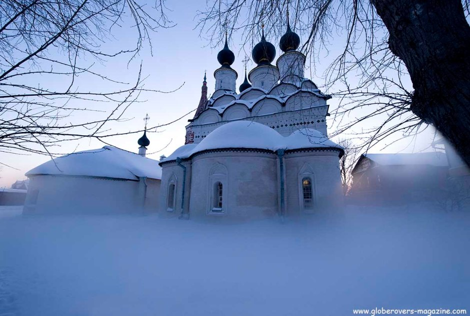 Church of St. Antipius (L), Church of St. Lazarus (R), Suzdal, Russia