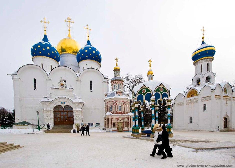 Assumption Cathedral, Trinity Monastery of St. Sergius, Sergiev Posad, Russia