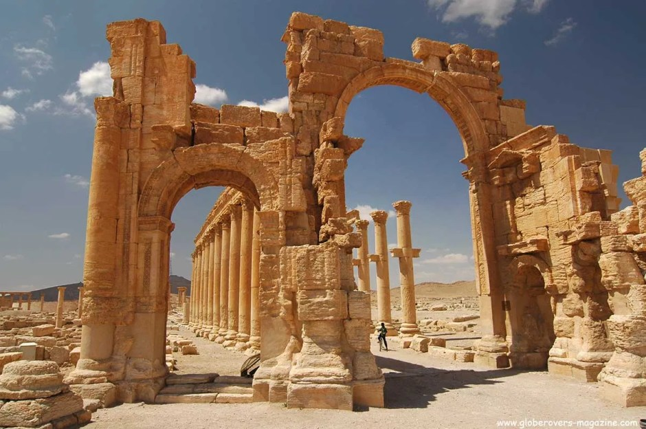 Monumental Arch and Great Colonnade, Palmyra, Syria