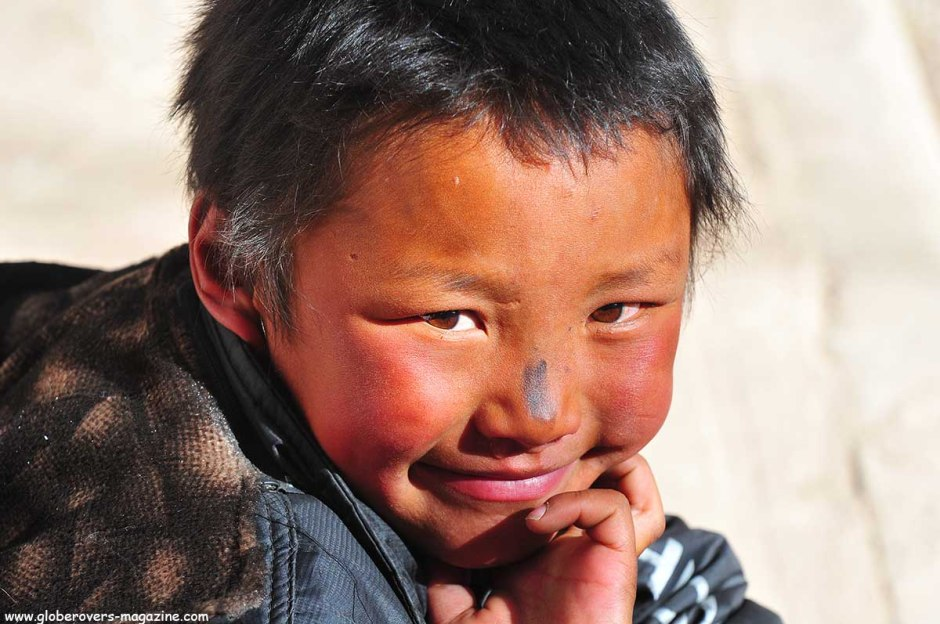 Portraits - Young boy at the Sera Monastery, Lhasa, TIBET