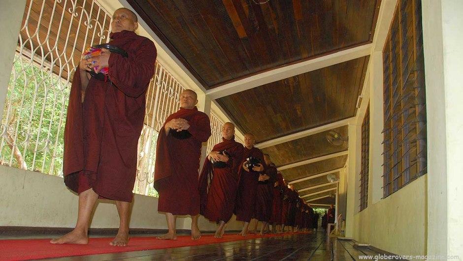 At Pa-Auk-Taw-Ya Monastery south of Mawlamyaing, Myanmar, monks