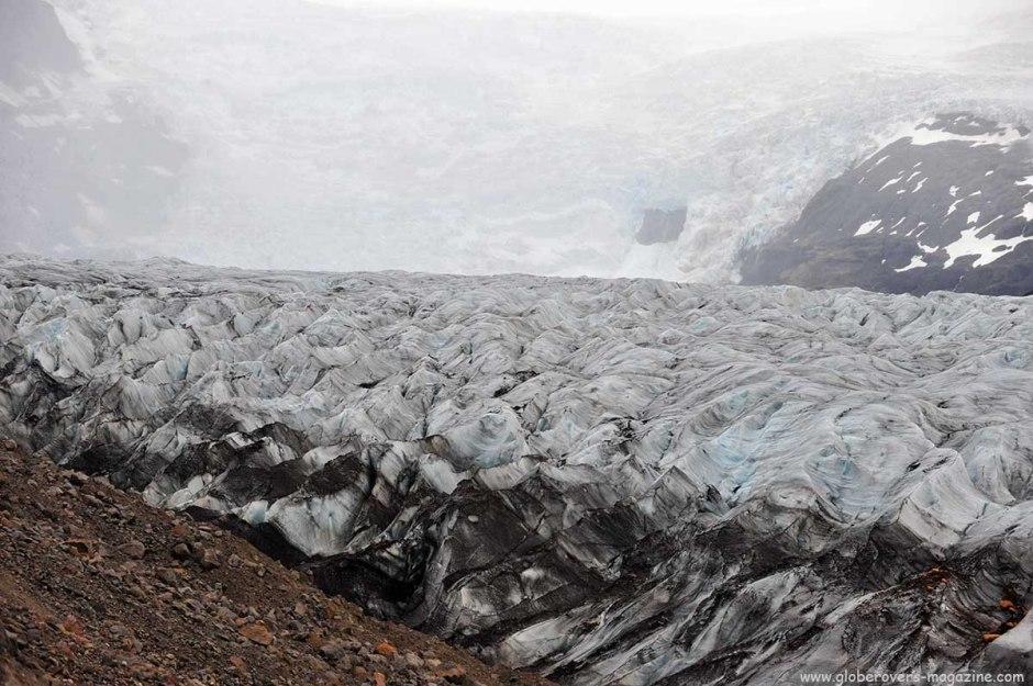 Massive glacier of Svínafellsjökull, Iceland