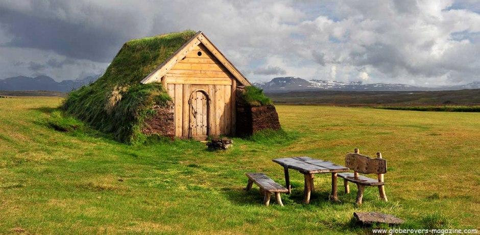Little turf house south of Héraðssandur, Iceland