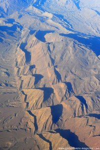 Flying over southern IRAN from Dubai to Tehran