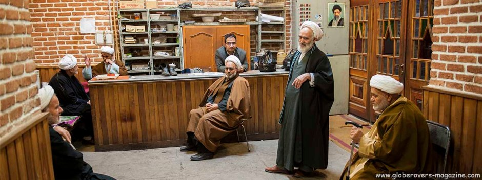A couple of mullah's at the Masjed-e Jameh (Jameh Mosque), Tabriz, Iran