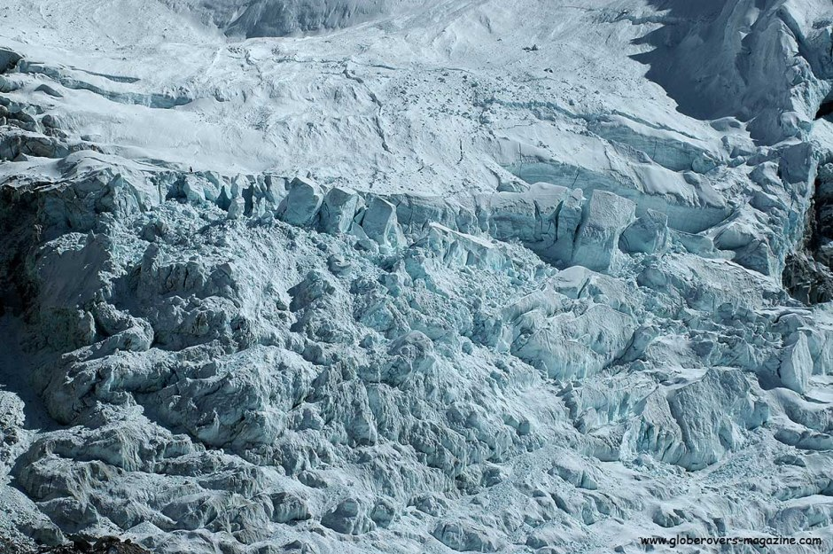 Khumbu Ice Fall near Everest Base Camp, Himalayas, Nepal