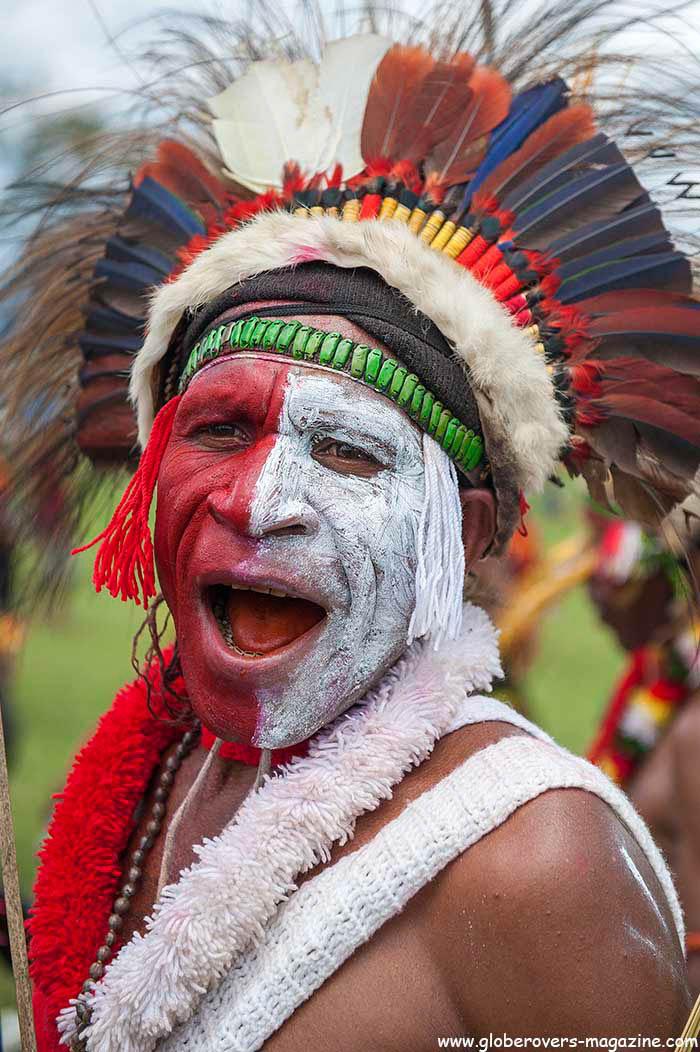 An unknown Singsing Group, 2014 Goroka Festival, Papua New Guinea