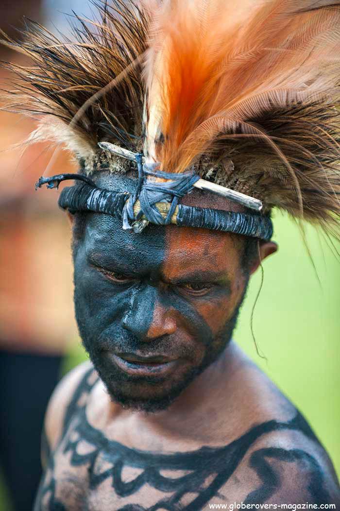 Sandaun Warriors Singsing Group, 2014 Goroka Festival. Papua New Guinea