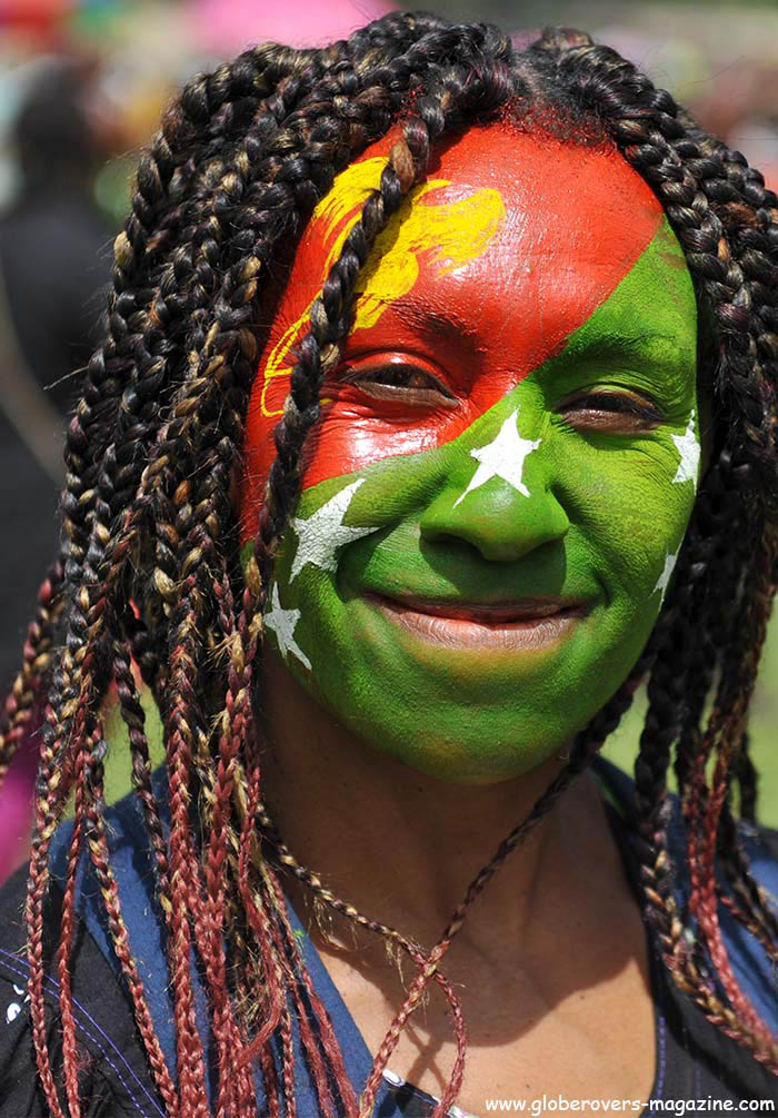 A local spectator at the 2014 Goroka Festival, Papua New Guinea