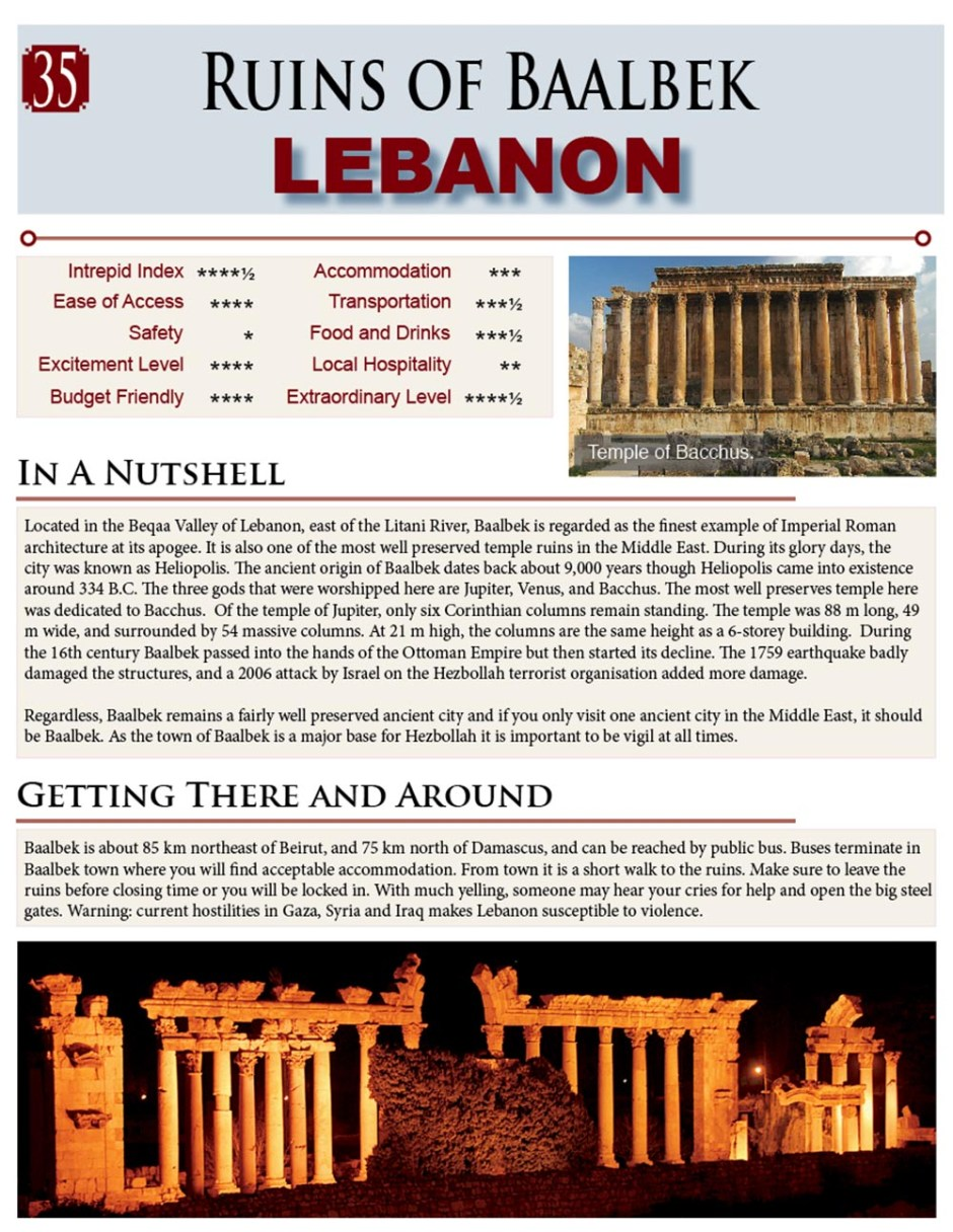 ancient ruins of baalbek, Lebanon, middle east