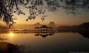 Sunrise at Kan-Thar-Yar Lake, Hpa-An, Myanmar