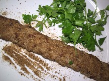 Kebab with sprinkles of sumac
