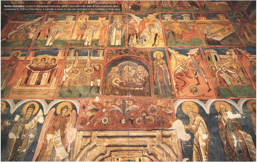 Monastery, Bucovina near Suceava, Romania
