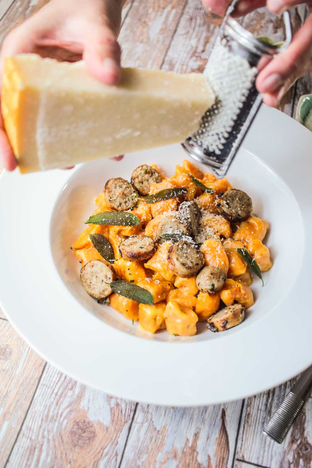 Buttery Sweet Potato Gnocchi With Sausage Recipe Globe