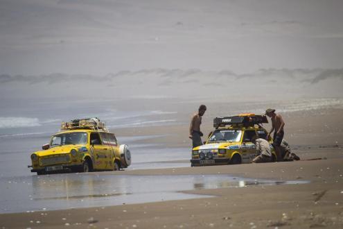 Transtrabant im Sand