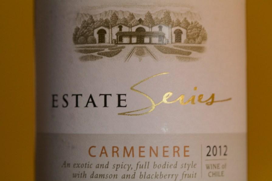 Errázuriz-Carmenère-Etikett