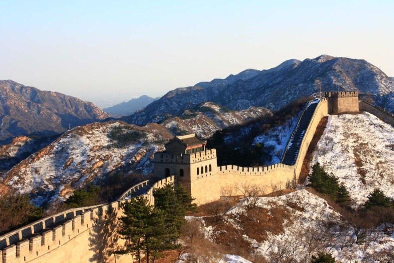 Chinesische Mauer im Winter