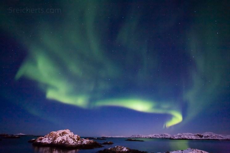 Nordlicht in Stø, Vesterålen