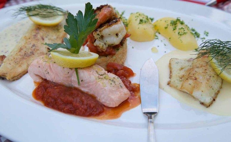 Deutsche Weinstrasse - Restaurants Weingüter Hotels Burrweiler Mühle Fisch essen