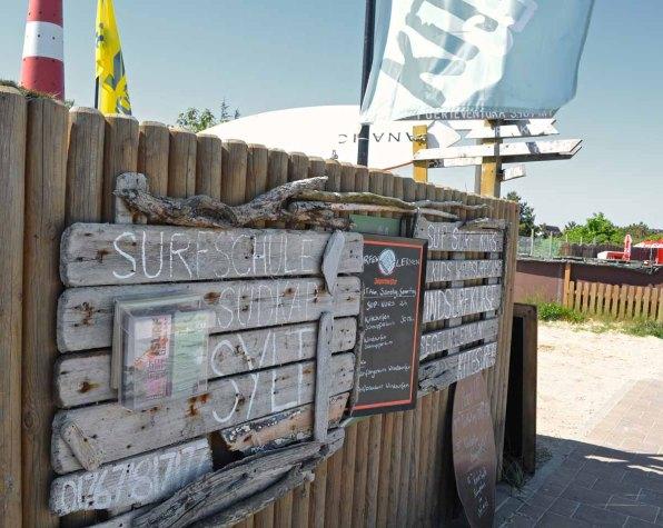 Sylt Aktivitäten Sehenswürdigkeiten - Surfschule Eingang