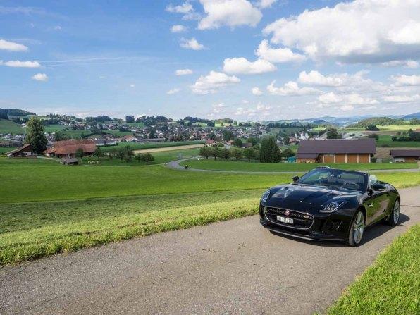 Unterwegs mit dem Jaguar von Hertz