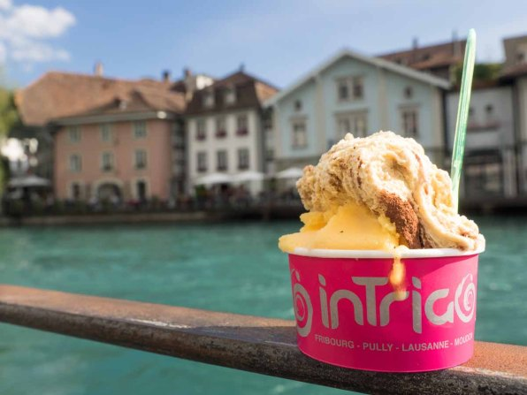 Glace-Pause in Thun