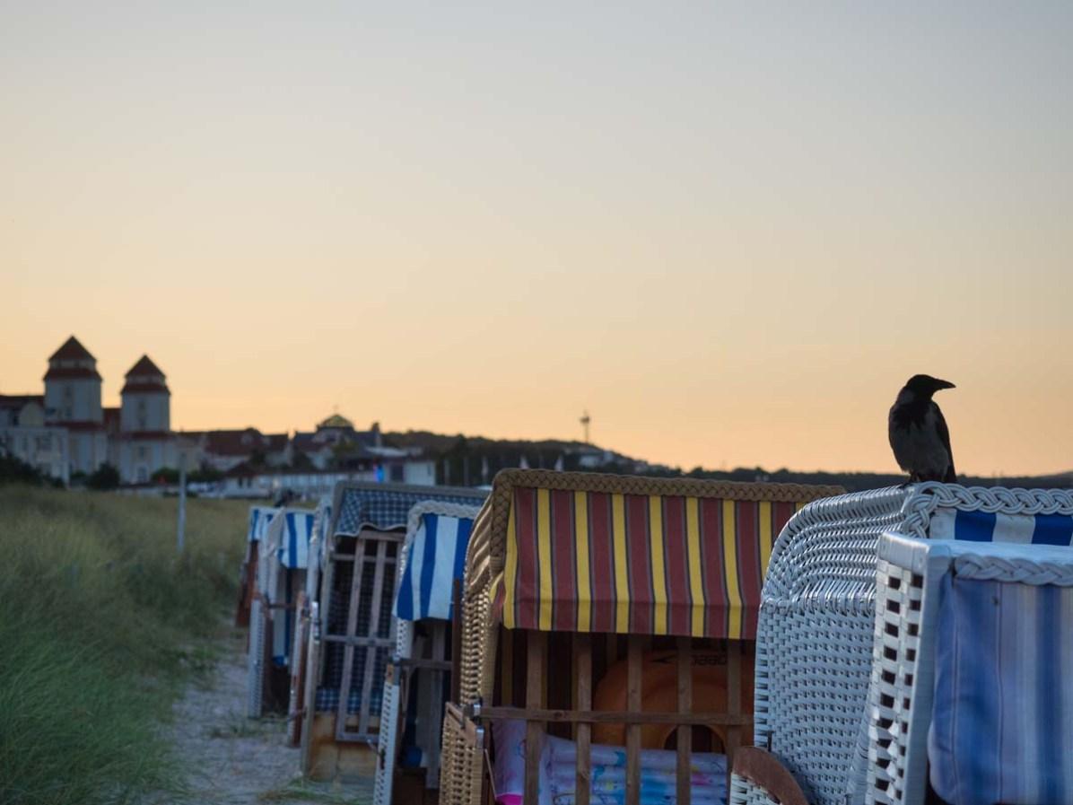 Bind Strandkörbe Sonnenuntergang