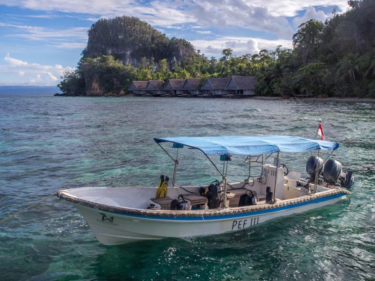 Tauchen Raja Ampat Tauchboote