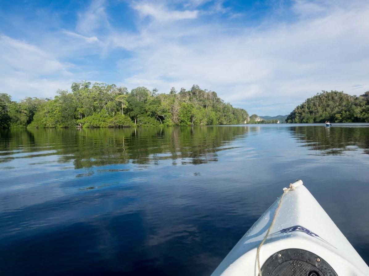 Kayak fahren Raja Ampat