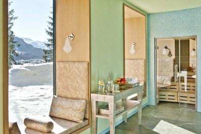 Erholung nach der Sauna: unser Lieblingsplatz im Hotel