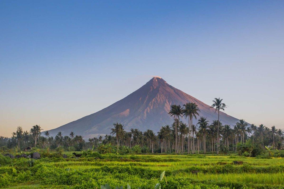 Der Mayon Vulkan auf den Philippinen