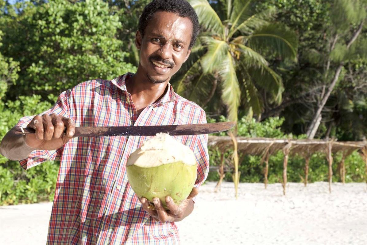 ... und gleich noch eine frische Kokosnuss schlürfen?