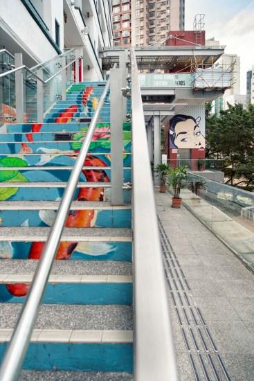 Bereits die Treppe ist hier ein Kunstwerk