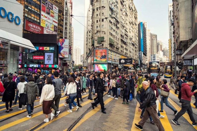 Wo man hinschaut: Hongkong ist stets voller Menschen