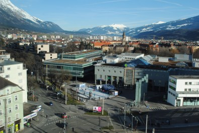 Der Blick vom Hotel aDLERS aus