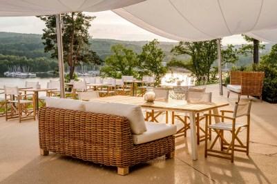 Die Terrasse mit blick auf den Bostalsee © Günter Standl