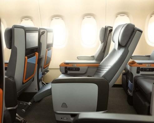 Premium Economy Sitz des A380 von Singapore Airlines