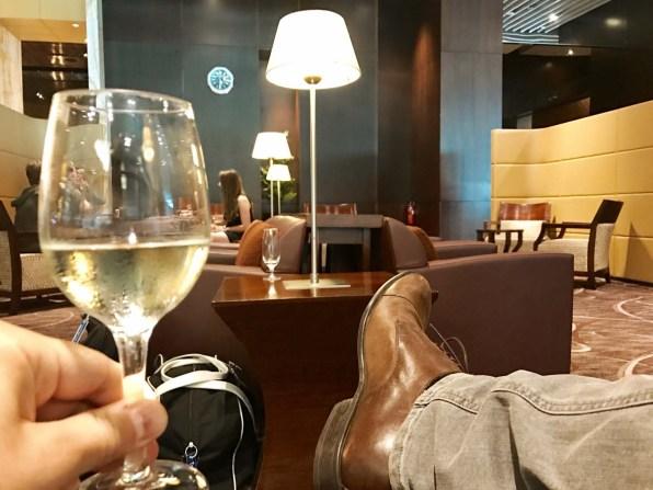 ... der Besuch einer Lounge