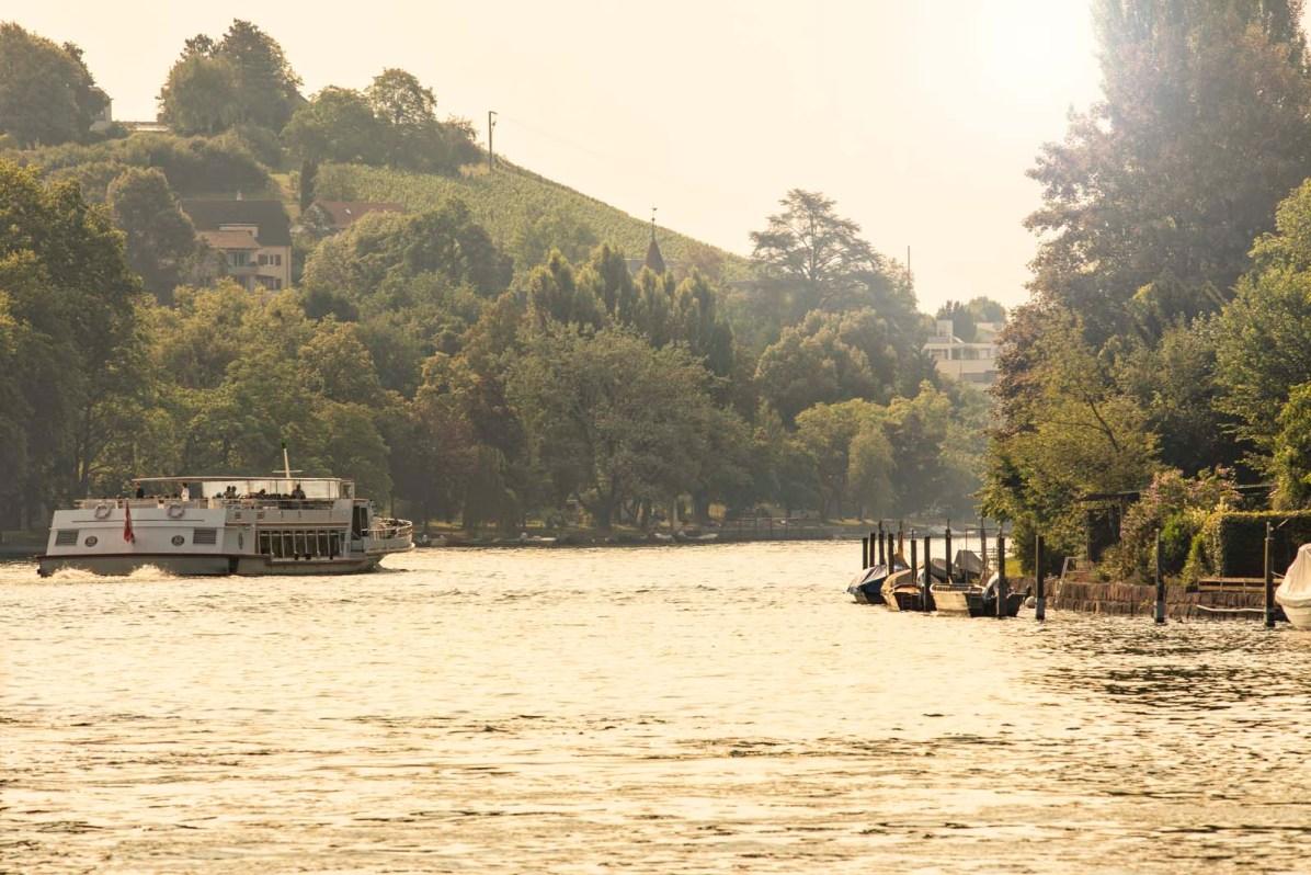 Schiffahrt Schaffhausen Rhein Untersee 13