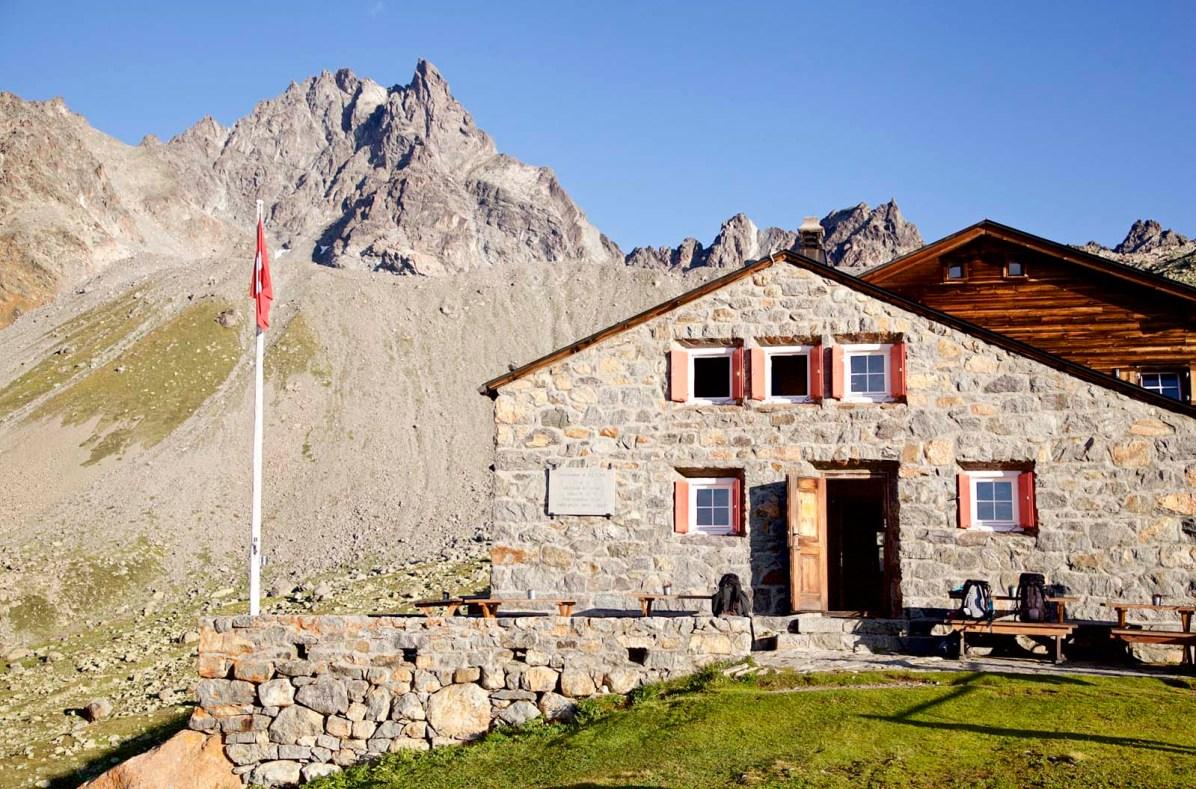 Die Es-cha-Hütte.