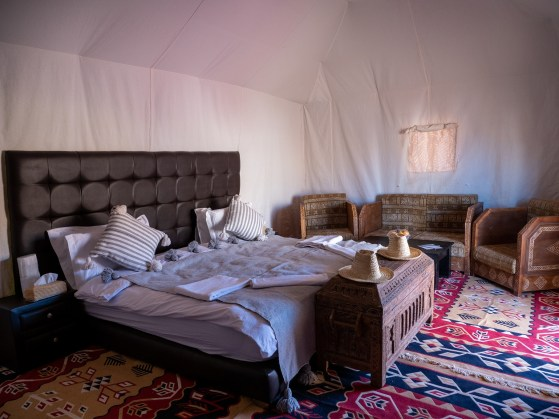 Erg Echeggaga Desert Luxury Camp Zelt