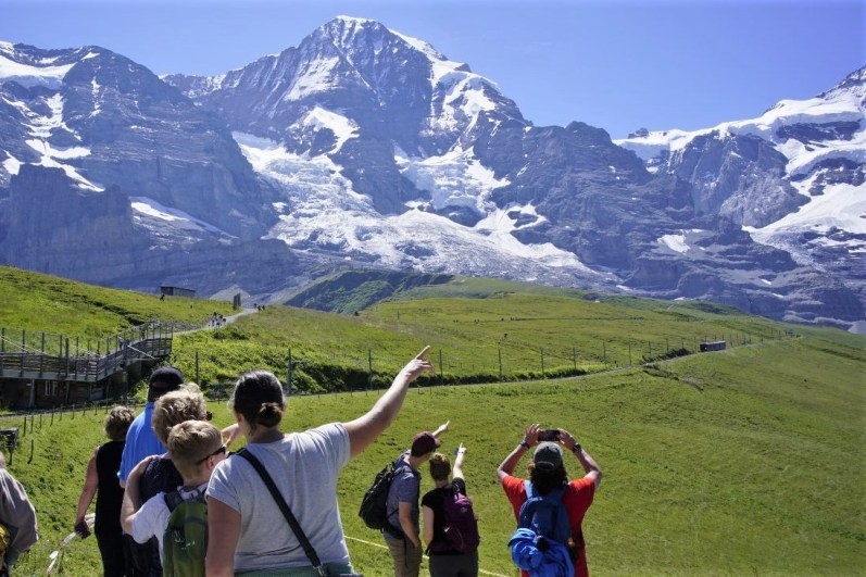 Sicht auf das Wahrzeichen des Berner Oberlands © Eva Hirschi
