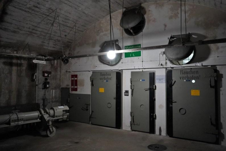 Im Innern des Bunkers. © Eva Hirschi