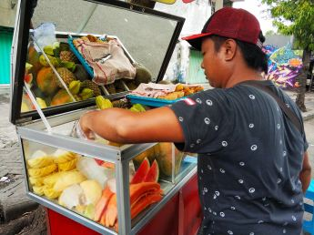 welcome to Surabaya, our fresh fruit breakfast