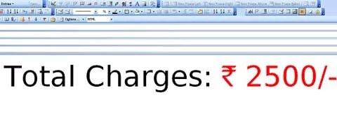 Indian Rupee Symbol  Computer Font