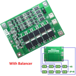 Modul Protektor Pengaman Overcharge Batere Lithium 40A 4S
