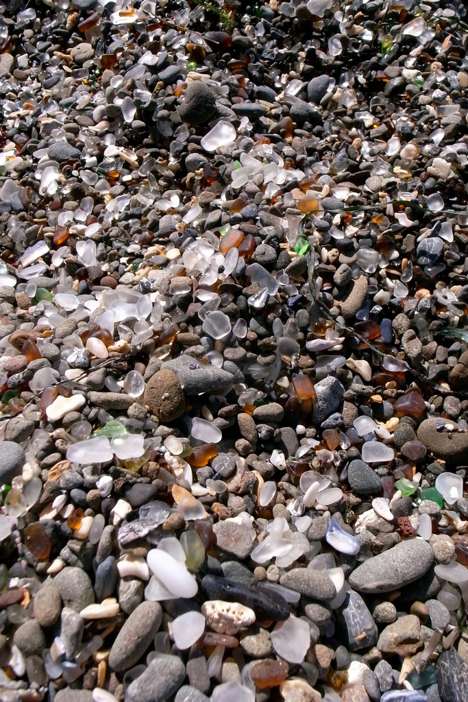Glass Beach, California - the most beautiful places in the world