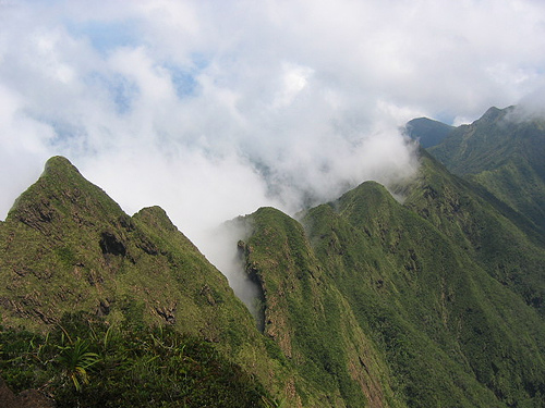 The treacherous peak of Mt. Guiting-Guiting, considered as one of the most challenging mountain trails in the Philippines. (photo credit: tripsiders.com)