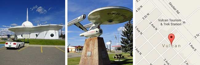 The town of Vulcan in Alberta